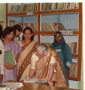 Suman Krishna Kant at library