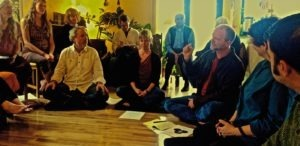 EcoDharma vows ceremony with David Chernikoff (2016) (Photo edited by Late David Mendosa)